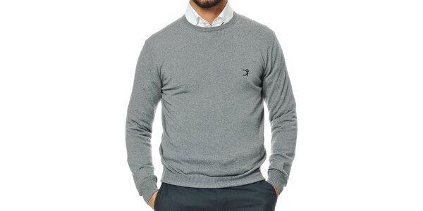 Pánsky šedý sveter z merino vlny Uomini Italiani