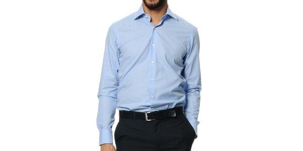 Pánska svetlo modrá košeľa s dlhým rukávom Uomini Italiani