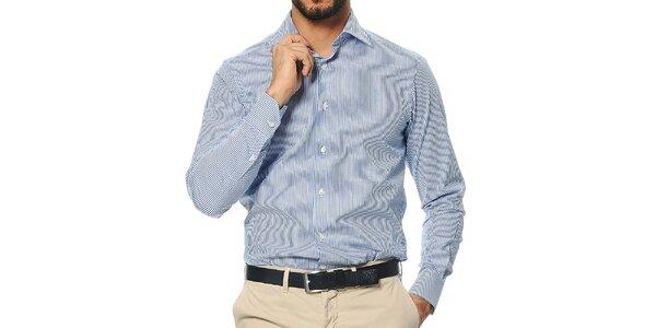 Pánska prúžkovaná košeľa s dlhým rukávom Uomini Italiani
