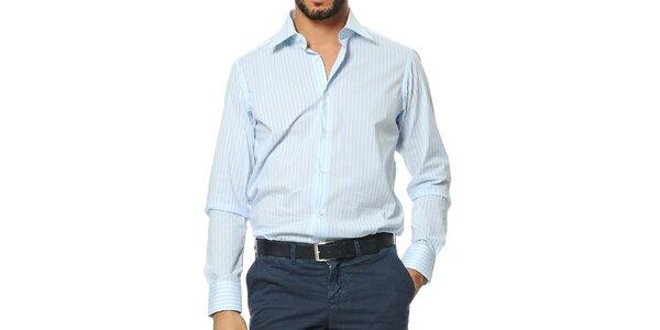 Pánska modro-biela pruhovaná košeľa Uomini Italiani