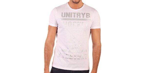 Pánske biele tričko s krátkym rukávom Unitryb