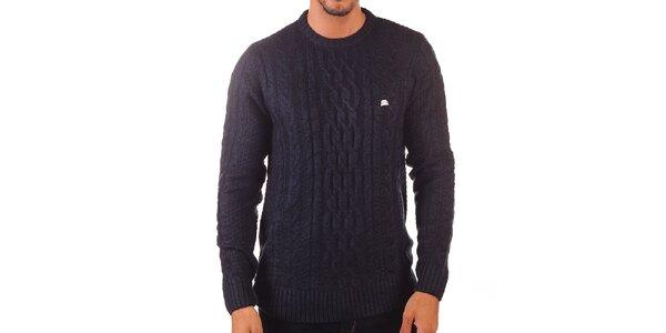 Pánsky tmavý vzorovaný sveter Unitryb