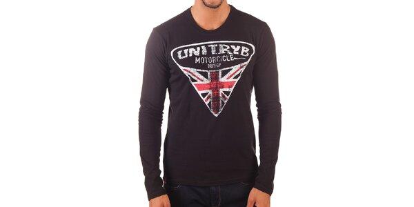 Pánske tričko s dlhým rukávom a potlačou Unitryb