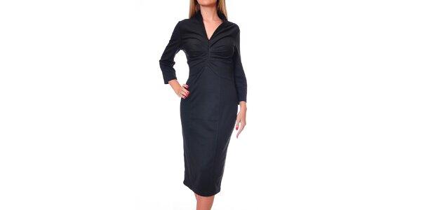 Dámske čierne midi šaty Avangard