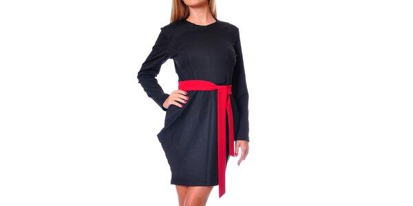 Dámske čierne šaty s tulipánovou sukňou Avangard