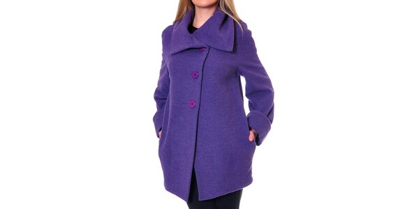 Dámsky fialový oversized kabát Daka