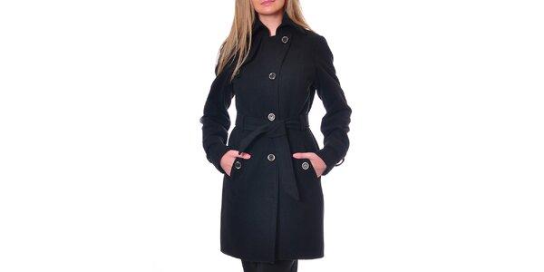 Dámsky čierny kabát Daka