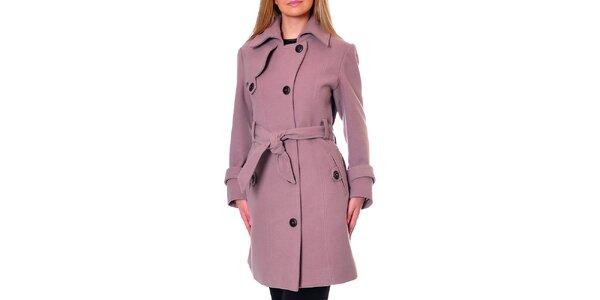 Dámsky ružový kabát Daka