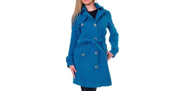 Dámsky kobaltovo modrý kabát Daka