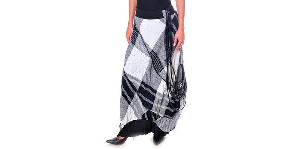 Dámska čierno-biela károvaná sukňa Daka