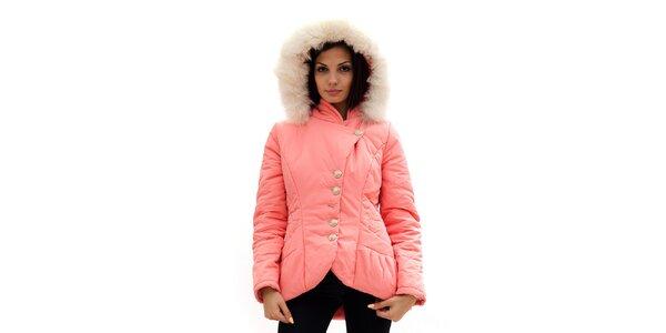 Dámska ružová bunda s kapucňou Radek's