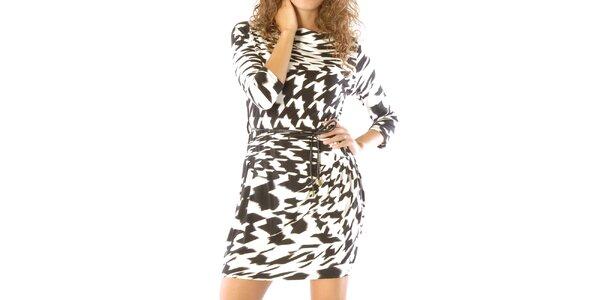 Dámske čierno-biele vzorované šaty Silvana Cirri