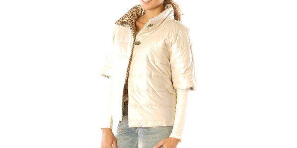 Dámsky obojstranný leopardí kabátik s krémovou stranou Silvana Cirri