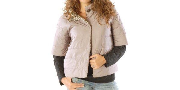 Dámsky obojstranný leopardí kabátik s hnedou stranou Silvana Cirri