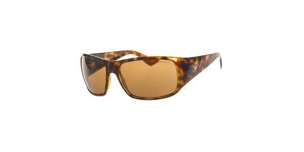 Pánske hnedé korytnačie slnečné okuliare Emporio Armani