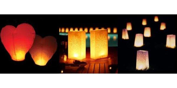Originálne lampióny alebo lampióny šťastia