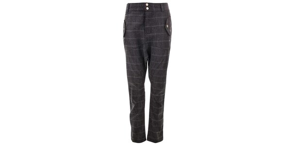 Dámske šedé nohavice s prúžkami Purple Jam