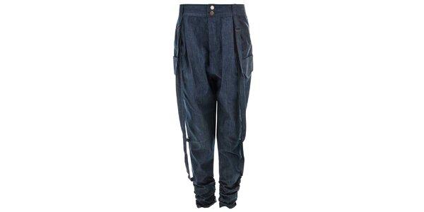 Dámske modré voľnejšie nohavice Purple Jam
