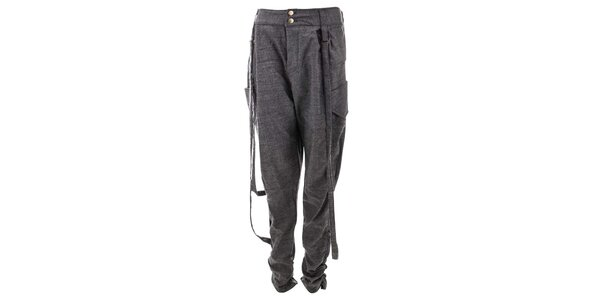 Dámske šedé voľnejšie nohavice Purple Jam
