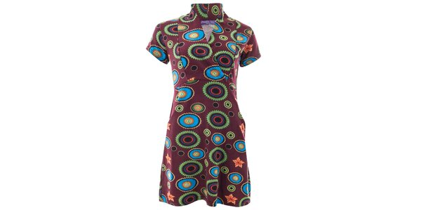 Dámske šaty s viacfarebným vzorom Purple Jam
