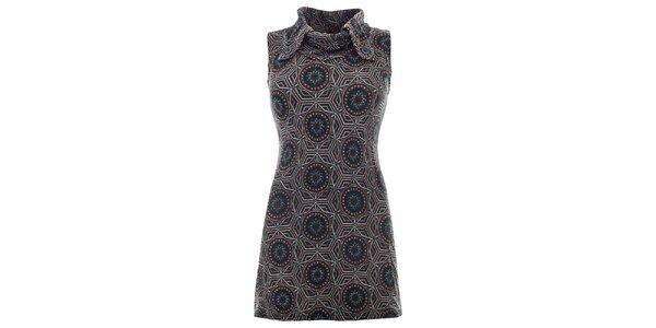 Dámske hnedé šaty bez rukávov Purple Jam