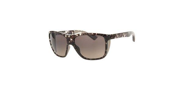 Pánske tmavo hnedé mramorované slnečné okuliare Emporio Armani