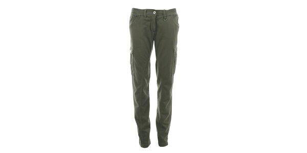 Dámske bavlnené nohavice s vreckami Aeronautica Militare