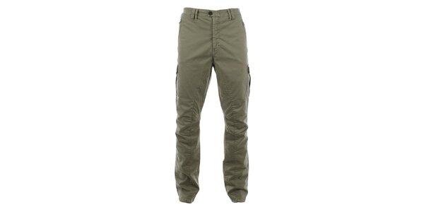 Pánske khaki nohavice s množstvom vreciek Aeronautica Militare