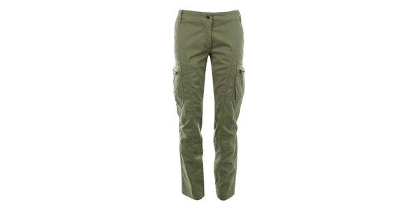 Dámske nohavice s vreckami na nohaviciach Aeronautica Militare