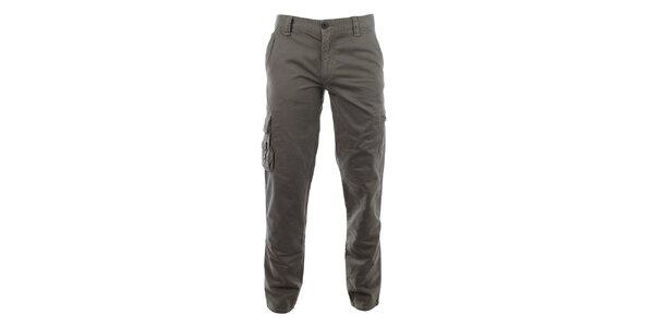 Pánske šedé nohavice Aeronautica Militare