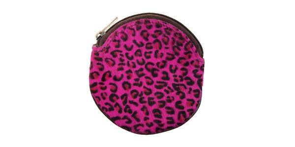 Dámska ružová leopardia peňaženka na mince Hope