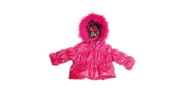 Detská ružová zimná prešívaná bunda Tuc Tuc