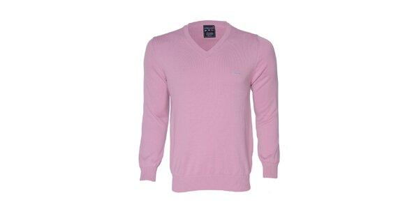 Pánsky ružový sveter s logom Giorgio di Mare