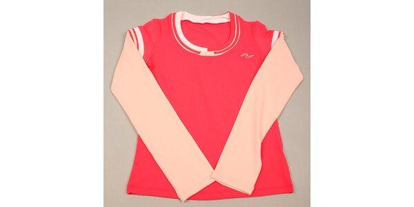 Dievčenské ružové tričko s dlhým rukávom Naffta