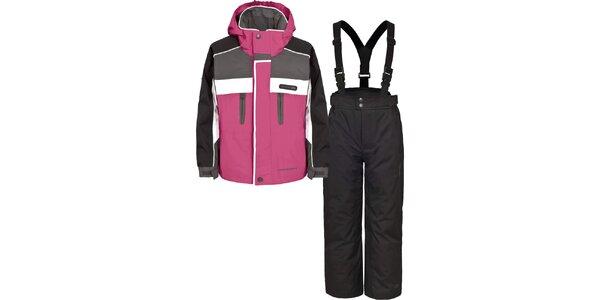 Detský čierno-ružový lyžiarsky komplet Trespass