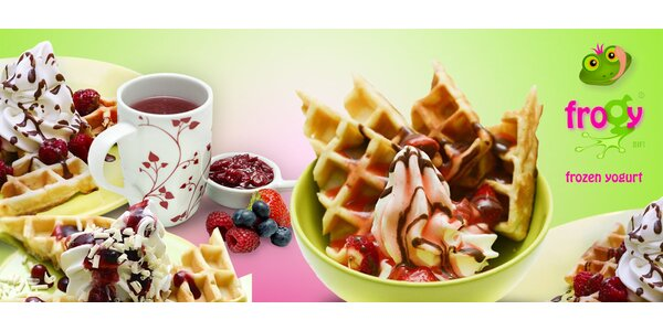 Wafle s mrazeným jogurtom