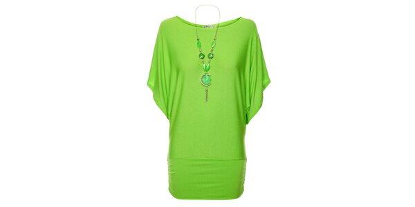 Dámsky dlhý zelenkavý top Victoria Look