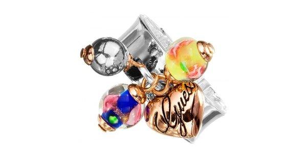 Dámsky prsteň s farebnými príveskami Guess