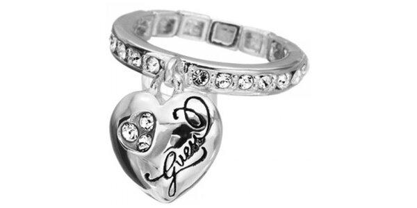 Dámsky prsteň v striebornej farbe Guess