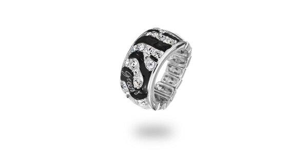Dámsky oceľový prsteň s kamienkami Guess