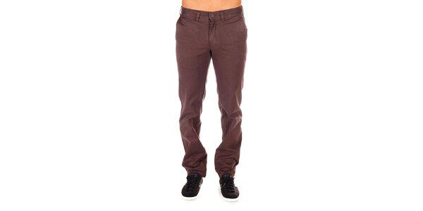 Pánske čokoládové chino nohavice Bendorff