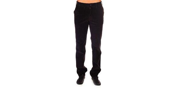 Pánske tmavé menčestrové nohavice Bendorff