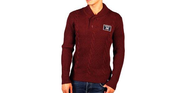 Pánsky vínový sveter so vzorom Bendorff