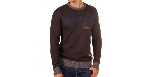 Pánsky sveter s kontrastnými lemami Bendorff