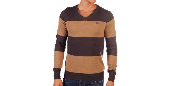 Pánsky dvojfarebný pruhovaný sveter Bendorff