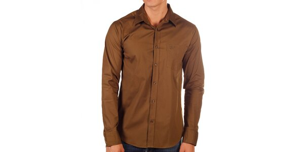 Pánska hnedá košeľa Bendorff