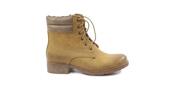 Dámske béžové topánky Drastik