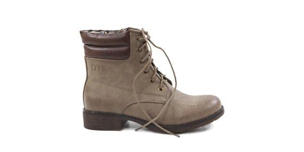 Dámske šedohnedé topánky Drastik