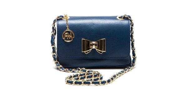 Dámska modrá menšia kabelka s mašľou Roberta Minelli