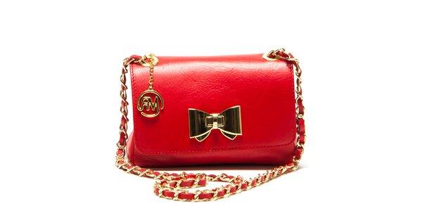 Dámska červená menšia kabelka s mašľou Roberta Minelli